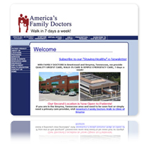 Visit America's Family Doctors and Walk-in Clinics