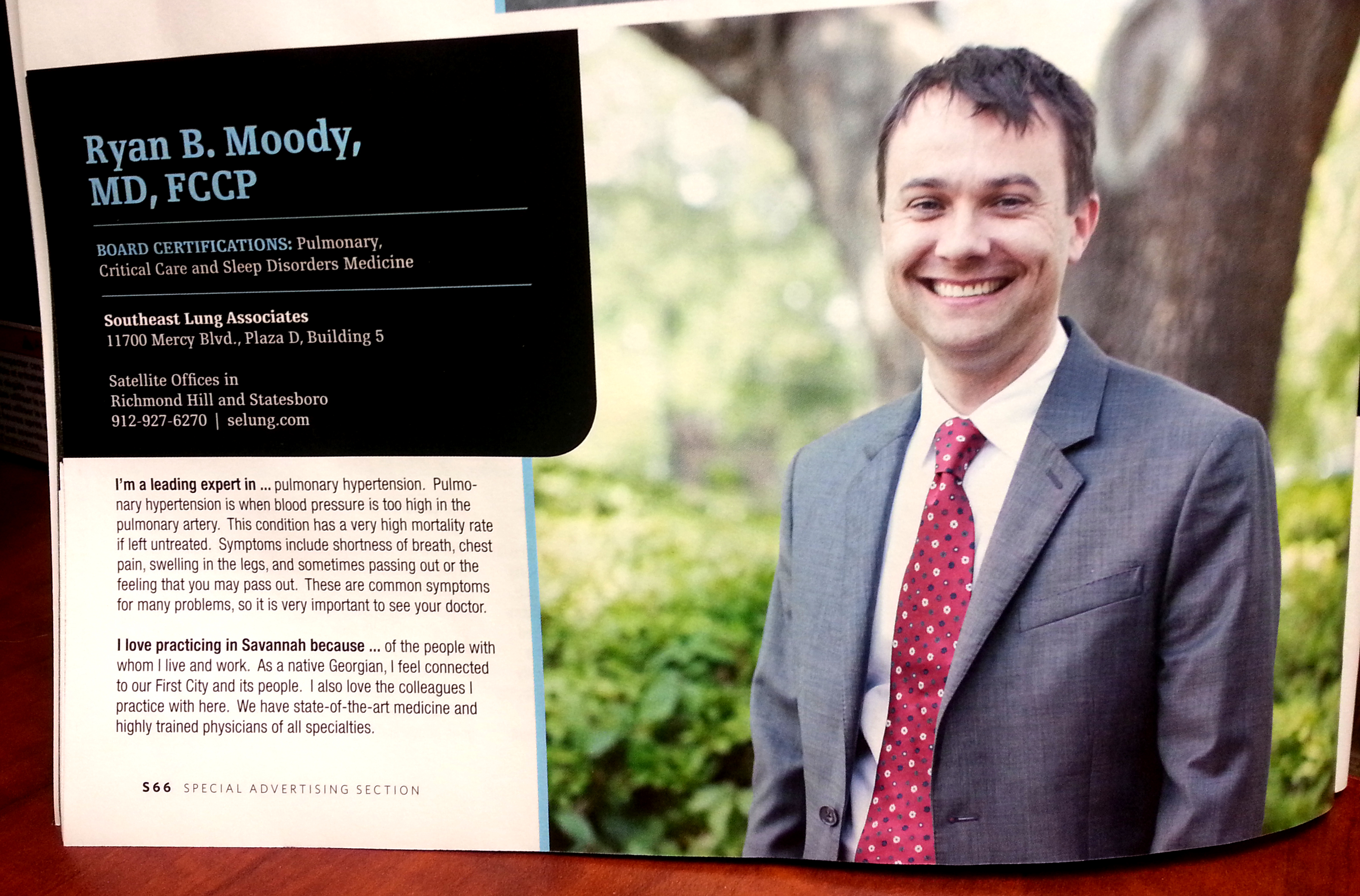 Dr. Moody in Savannah Magazine July 2014